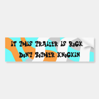 Bumper Sticker Vintage Camper Expression Saying
