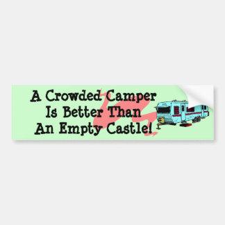 Bumper Sticker Vintage Camper RV Travel Trailer Car Bumper Sticker