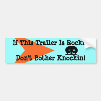 Bumper Sticker Vintage Camping Trailer Travel