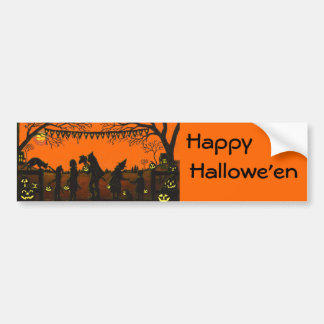 Bumper,sticker,vintage,style,Halloween,costumes Bumper Sticker