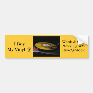 bumper sticker vinyl lp wheeling wv car bumper sticker