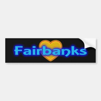 Bumper Sticker Visual Fairbanks Alaska AK Promote
