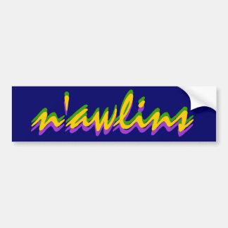 Bumper Sticker Visual NOLA New Orleans n awlins