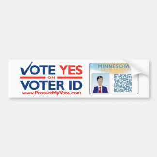 Bumper Sticker - Vote YES on Voter ID