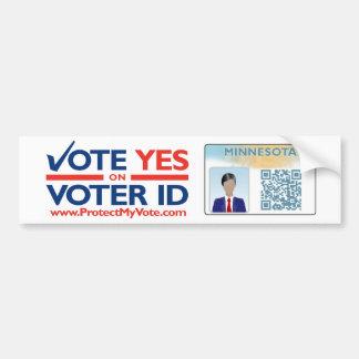 Bumper Sticker - Vote YES on Voter ID Car Bumper Sticker