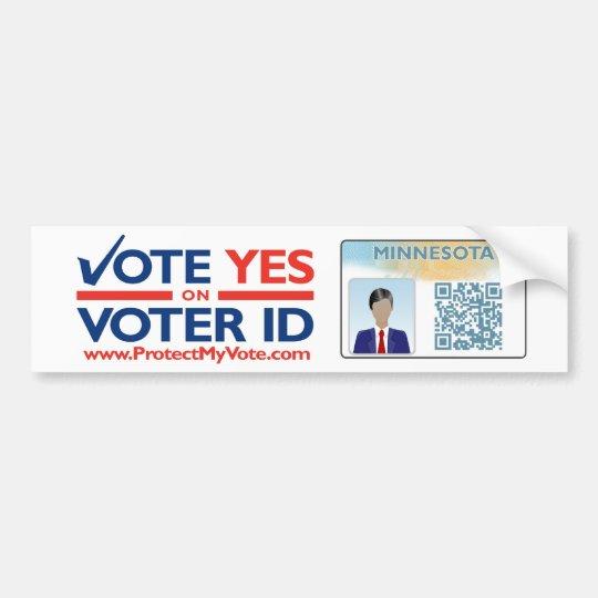 Bumper Sticker - Vote YES on Voter ID