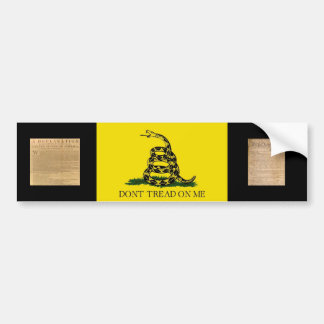 Bumper Sticker w/ Gadsden Flag-Dont Tread On Me
