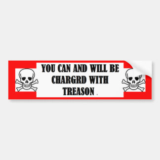 Bumper Sticker w/ YOU CAN AND WILL BE CHARGED WITH Car Bumper Sticker