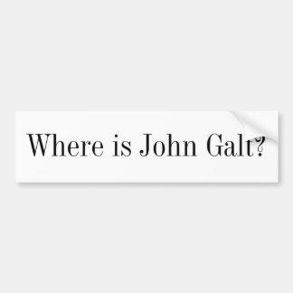 Bumper Sticker - Where is John Galt? Car Bumper Sticker