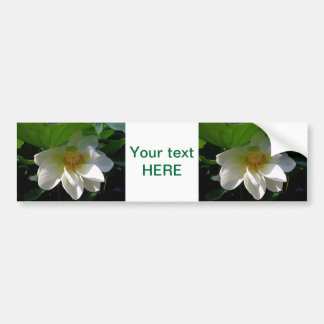 Bumper Sticker with delicate white Lotus Flower