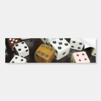 Bumper Sticker with dice