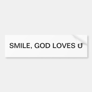 bumper sticker with feel good message