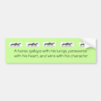 Bumper Sticker with galloping horses