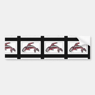 Bumper sticker with killer whale design