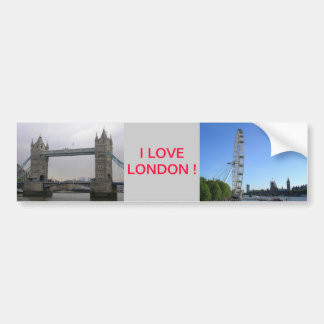 Bumper Sticker with London Eye Ferris Wheel Car Bumper Sticker