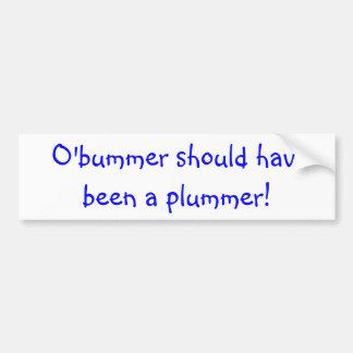 Bumper sticker with political statement car bumper sticker