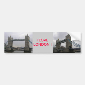 Bumper Sticker with Tower Bridge over the Thames