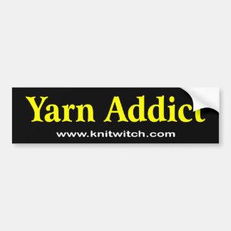 Bumper Sticker - Yarn Addict