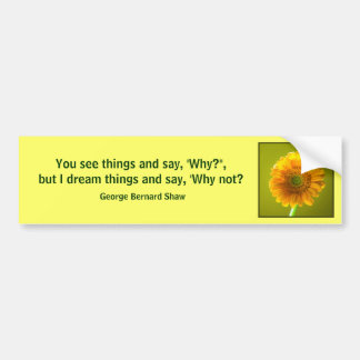 Bumper Sticker - Yellow Daisy Gerbra Flower