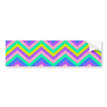 Bumper Sticker Zig Zag Chevron Pattern