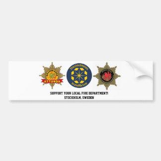 Bumper stickers fire brigade Stockholms län