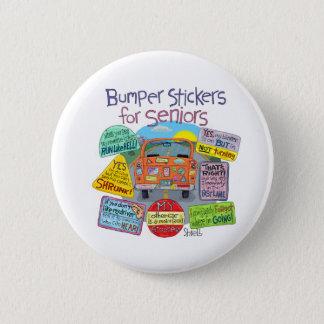 Bumper Stickers For Seniors Cartoon Button