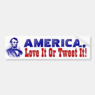 Bumper Stickers Trump America Love it or Tweet it