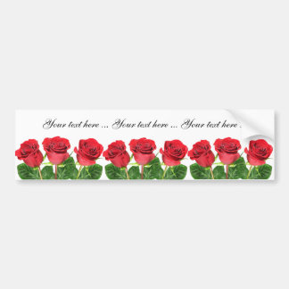 Bumper stickers with roses