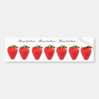 Bumper stickers with strawberries