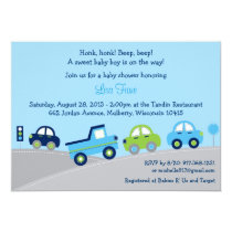 Bumper to Bumper Car Truck Baby Shower Invitations