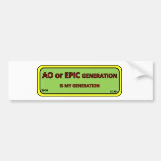 Bumper/window sticker AO generation