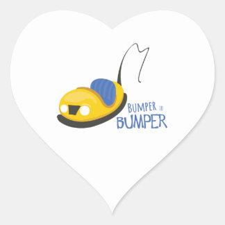 BumperCars_BumpertoBumper Pegatina De Corazón Personalizadas