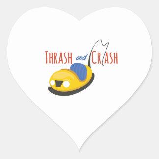 BumperCars_TrashandCrash Pegatina Corazón Personalizadas