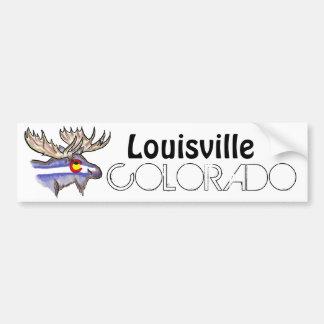 Bumpersticker artístico de los alces de Louisville Pegatina Para Auto