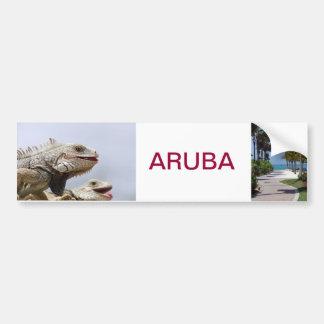 bumpersticker Aruba Etiqueta De Parachoque