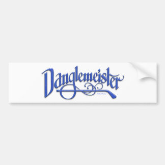 Bumpersticker (azul) de Danglemeister Pegatina Para Auto