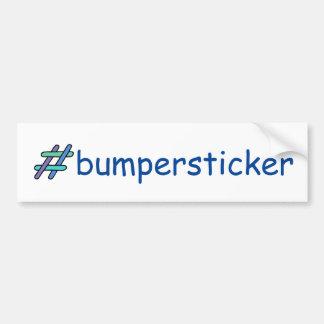 #bumpersticker Blue Green Hashtag Social Media Bumper Sticker
