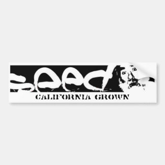 bumpersticker- California crecida Pegatina Para Auto