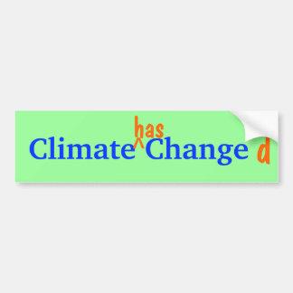 Bumpersticker cambiado clima