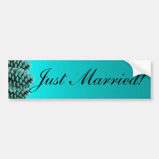 Bumpersticker casado azul rústico del cono del pin pegatina para auto