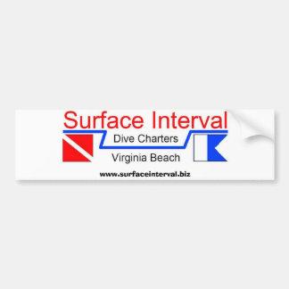 Bumpersticker con el logotipo, cartas superficiale etiqueta de parachoque