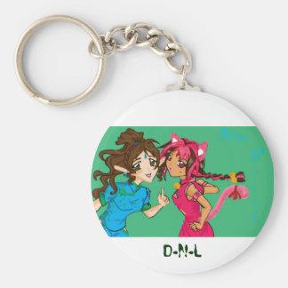 bumpersticker copy, D-N-L Basic Round Button Keychain