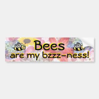 Bumpersticker de Bzzzness de la abeja Pegatina Para Auto