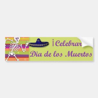 Bumpersticker de Dia de los Muertos Etiqueta De Parachoque