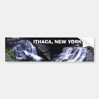 Bumpersticker de ITHACA, NUEVA YORK Pegatina Para Auto