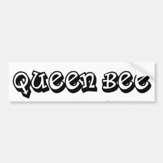 Bumpersticker de la abeja reina etiqueta de parachoque