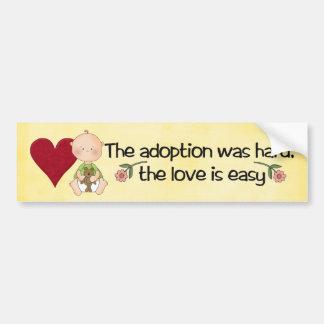 bumpersticker de la adopción pegatina de parachoque