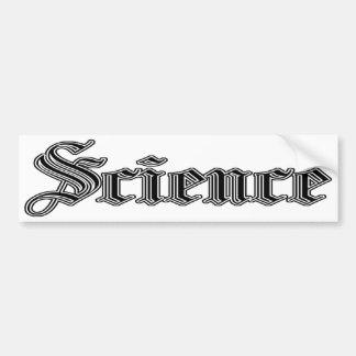 bumpersticker de la ciencia pegatina para auto