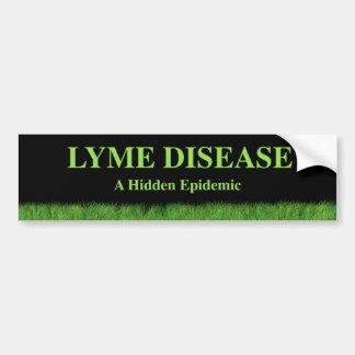 Bumpersticker de la enfermedad de Lyme Etiqueta De Parachoque