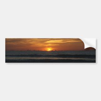 Bumpersticker de la foto de color de la salida del pegatina de parachoque
